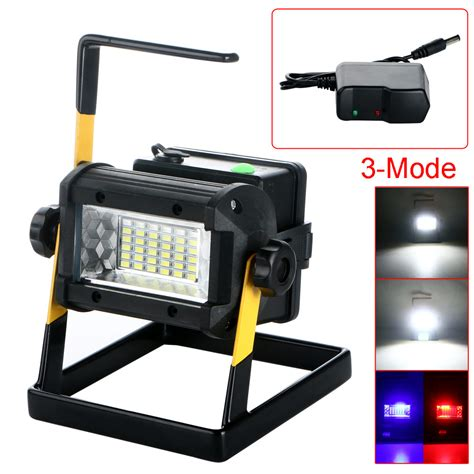 led rechargeable emergency light outdoor waterproof portable 2400 lumen 36 led floodlight