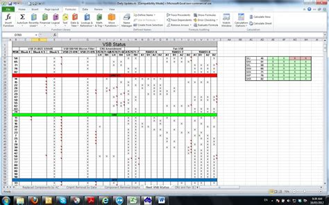 excel spreadsheet shifts calculations not updating
