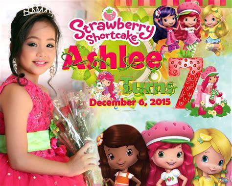 design  seventh birthday strawberry shortcake