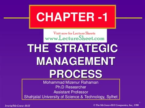 Mba In Strategic Management In Usa by Chapter 1 Strategic Management Business Policy 13 Ed