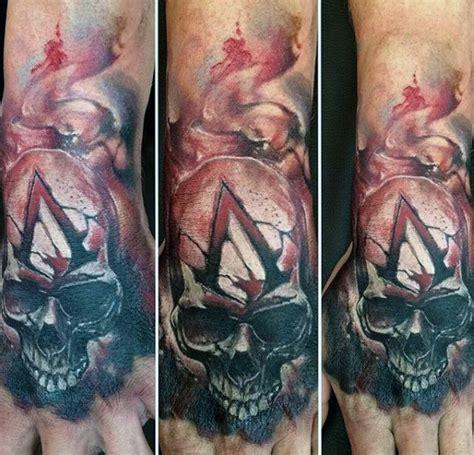 tattoo assassins video game 100 video game tattoos for men gamer ink designs