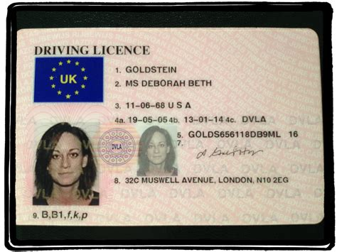 Uk Driving License Template by Uk Driving Licence Template