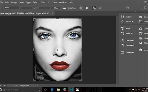 add color to black and white photo photoshop tutorial how to add color to the key parts of a