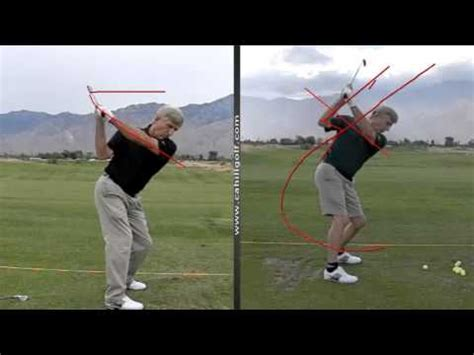 line swing crossing over the line cahill golf schools youtube