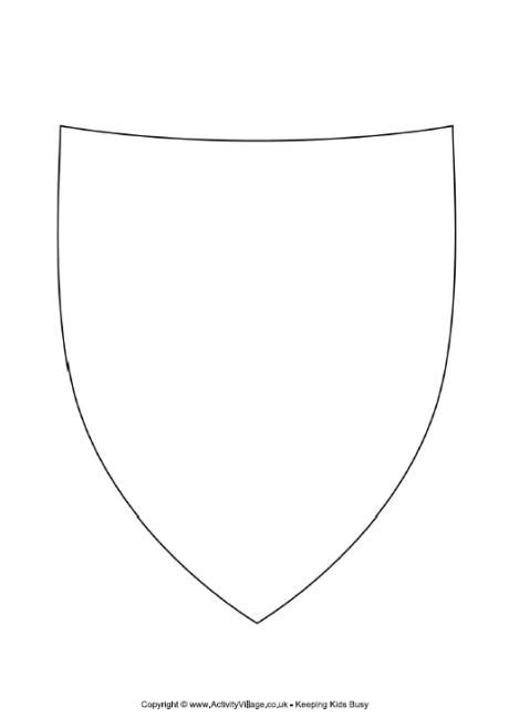 shield template to print decorate the shield