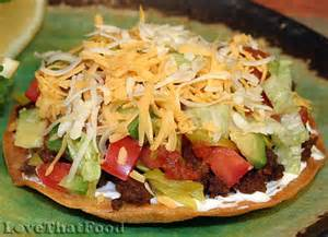 Pasta Salad Recipes Easy beef tostada recipe with picture lovethatfood com