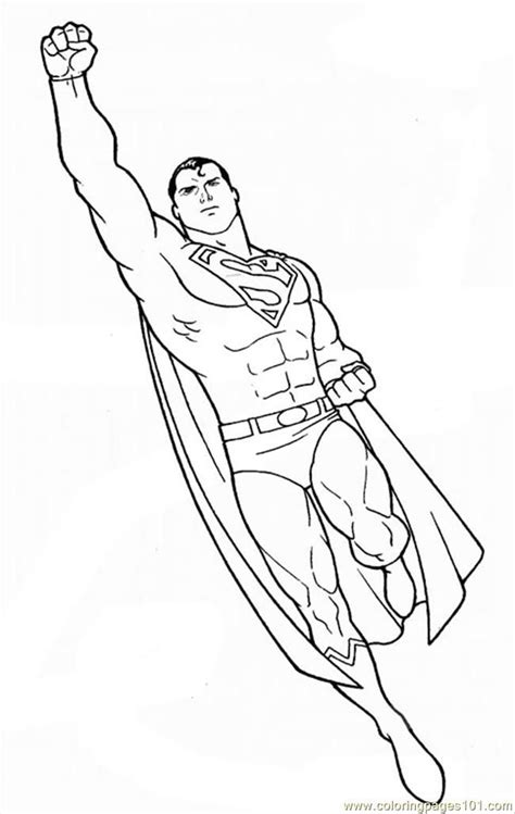superman cartoon characters coloring home