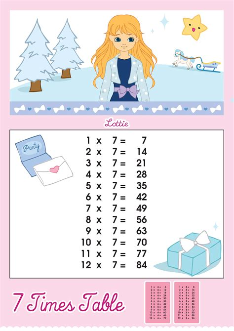 lottie doll lewis seven times table worksheets releaseboard free printable