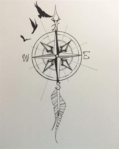 arrow compass tattoo 25 best arrow compass ideas on compass