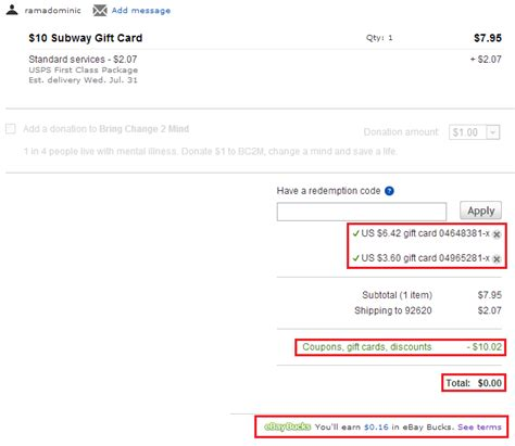ebay gift card balance get 8 cash back on every ebay item you buy