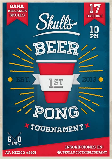 Beer Pong Tournament Poster On Behance Free Pong Flyer Template