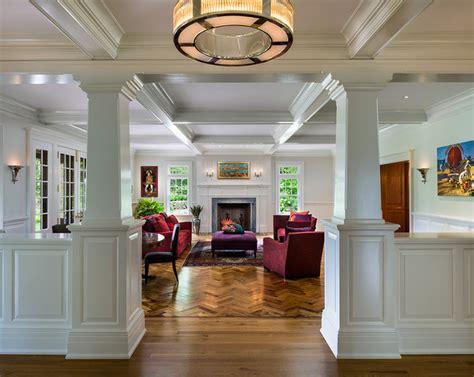 living room columns new house wayne pa traditional living room