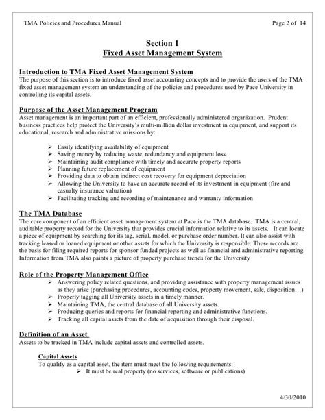 fixed asset policy template delighted fixed asset policy template photos