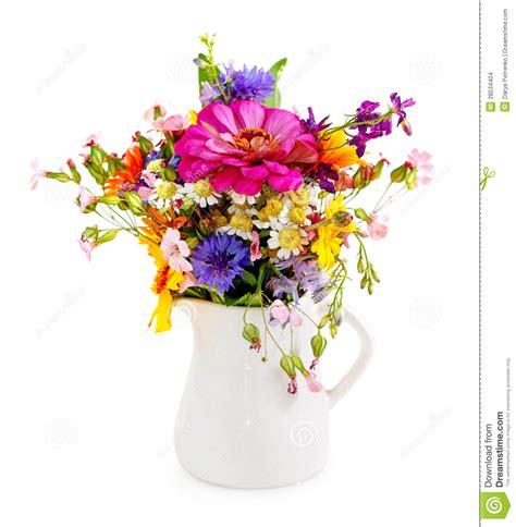 fiori nel vaso mazzo dei fiori nel vaso bianco immagini stock immagine