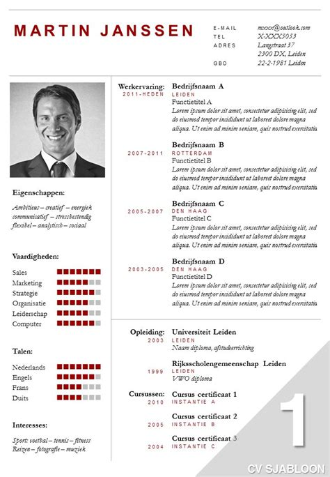 Cv Layout Sjabloon 25 Beste Idee 235 N Professioneel Cv Sjabloon Op Cv Cv Lay Out En Cv Sjablonen