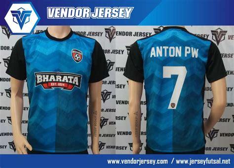 Kaos Indonesia Warna Hitam pembuatan kaos futsal dengan kombinasi warna biru hitam