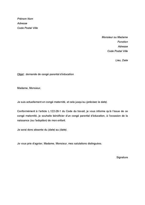 Calaméo - lettre de demande de congé parental d'éducation