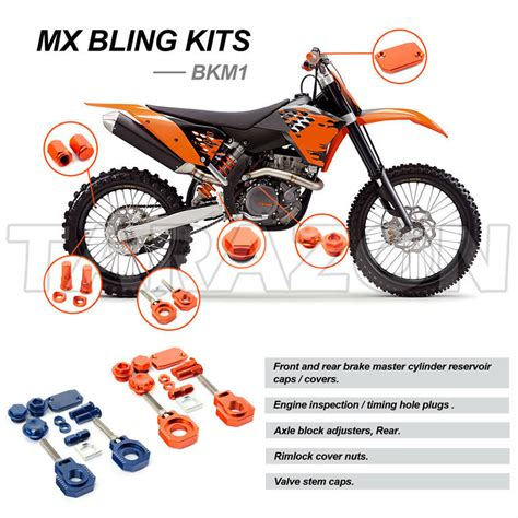 Ktm Bicycle Accessories Road Mx Motocross Dirt Bike Accessories Bling Kit For