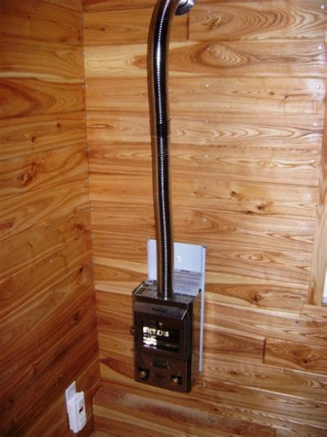 tiny house propane heater wildflower ii tiny house has staircase with storage to loft tiny house pins