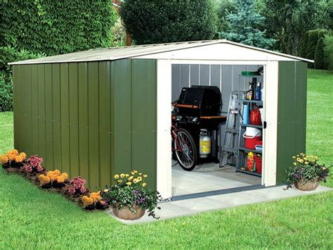 10 X 13 Shed by 10 X 13 Metal Storage Shed Kit Tools Garden