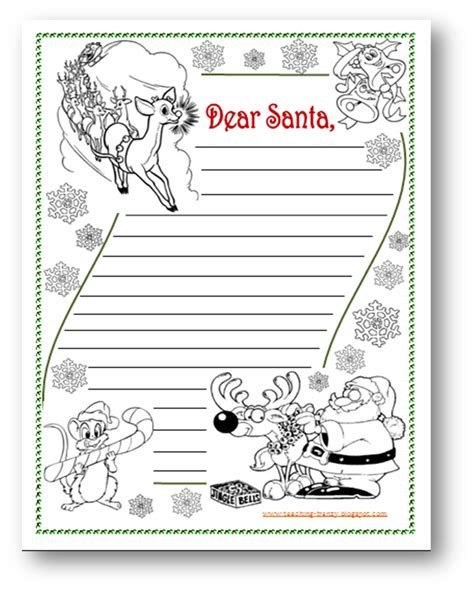 layout christmas letter teaching frenzy letter to santa layout