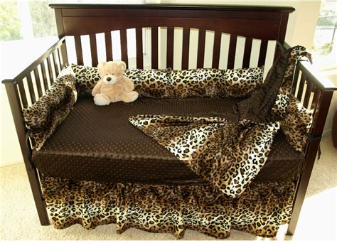 Animal Print Crib Bedding Set Leopard Print Crib Bedding Set