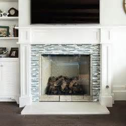 White Glass Tile Fireplace by 1000 Images About Fireplace On Fireplace