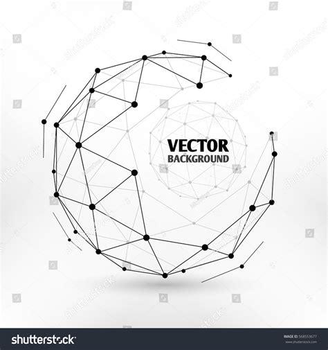 network pattern en français broken connection network 3d polygon wireframe stock