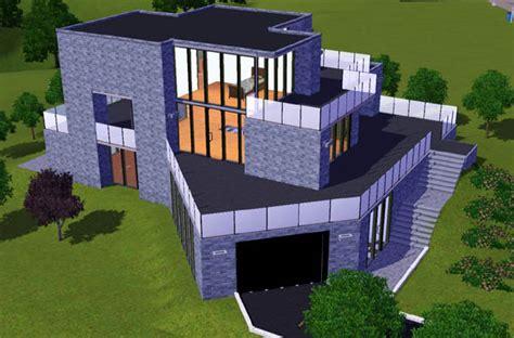sims 3 maison moderne avec garage en angle architecture maison house jeu les sims 3