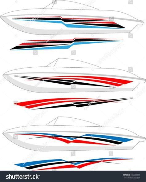 vinyl striping for boats boat graphics stripe vinyl ready stock vector 196659575