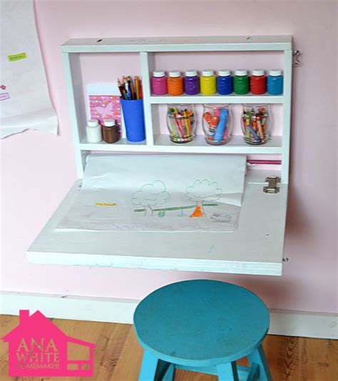 kids art desk creative diy wall art desk for kids