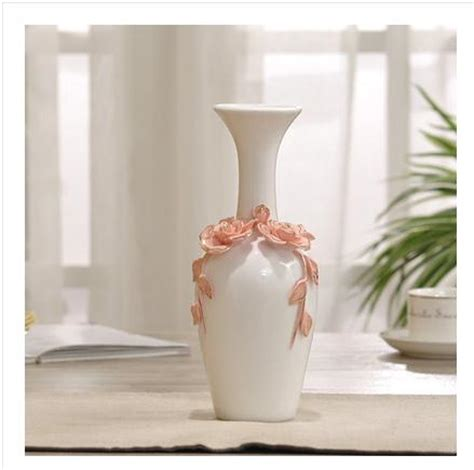 white ceramic home decor ceramic red white flowers vase home decor large floor