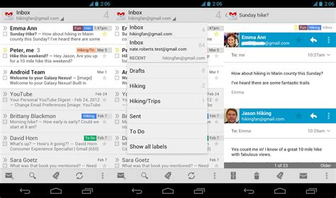 android gmail gmail 4 3 for android is out