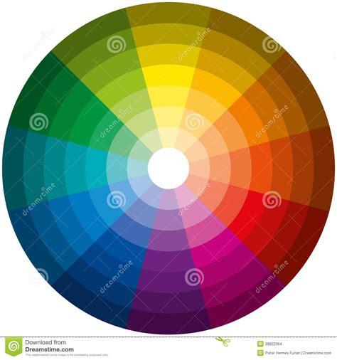 lichte de kleurencirkel vector illustratie