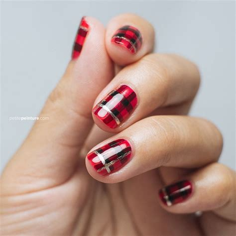 plaid pattern nails try adding some tartan to your fingertips nailart plaid