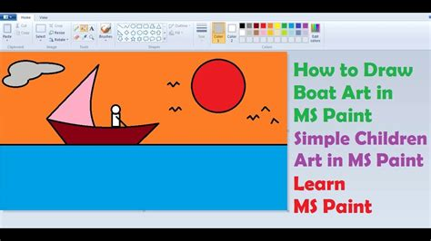 kids online paint and draw activity kids software how to draw sea boat in ms paint simple children art in
