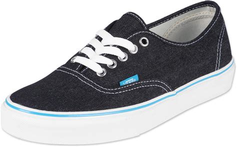 vans shoes vans authentic shoes denim black white