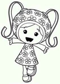 milli happy team umizoomi coloring color luna