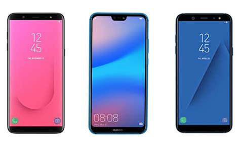 samsung galaxy j8 vs huawei p20 lite vs samsung galaxy a6 price in india specifications