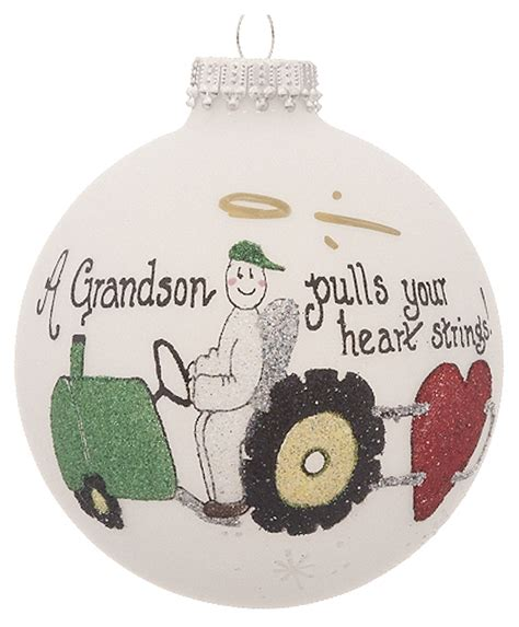 grandson tractor personalized ornament