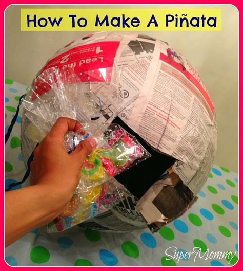 How To Make A Pinata With Paper Mache - how to make a pinata smash pinata week