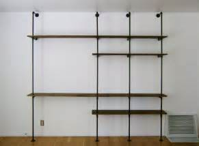 pipe shelving unit brick house