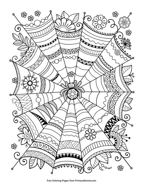 halloween coloring pages spider web 176 best coloring pages images on pinterest fall