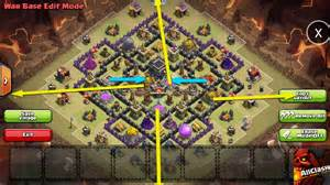 Of clans weekly base analysis part 21 town hall 9 war base layout jpg