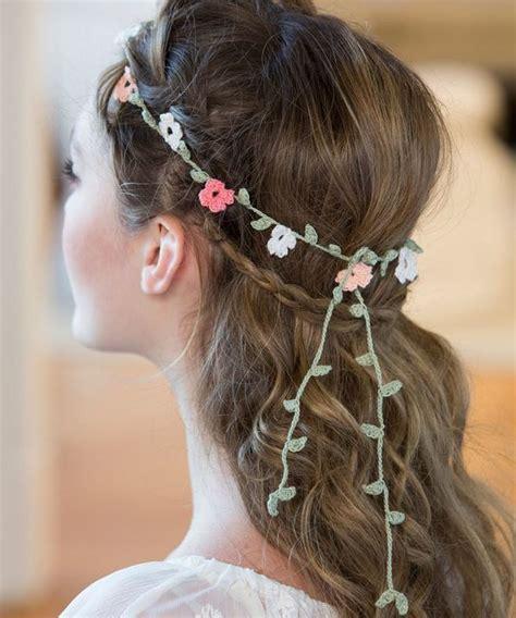 free patterns and instruction on making flower hair clips floral crochet headband pattern allfreediyweddings com