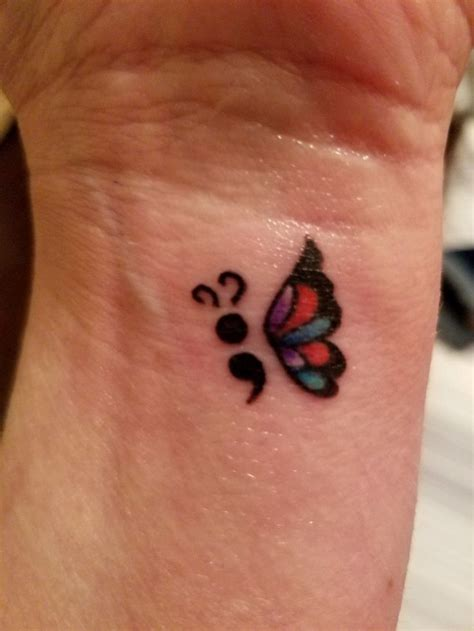 semicolon butterfly tattoo best 25 semicolon butterfly ideas on