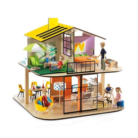 doll house colors color doll house djeco mylittleroom