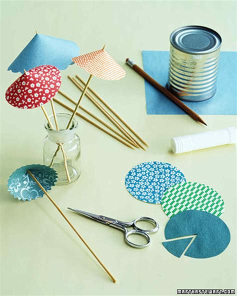 How To Make Paper Umbrella For Drinks - festive drink umbrellas martha stewart