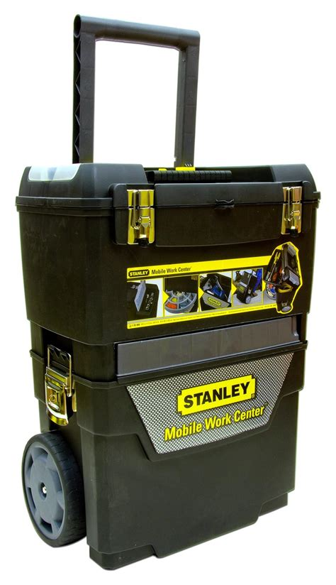 tool box on wheels uk stanley 4 in 1 mobile work centre tool box black wheels