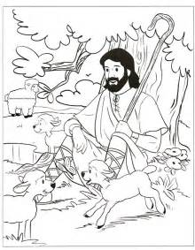 Jesus The Good Shepherd Coloring Page Parable Of sketch template